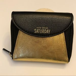 Kate Spade Saturday Black and Gold Wallet